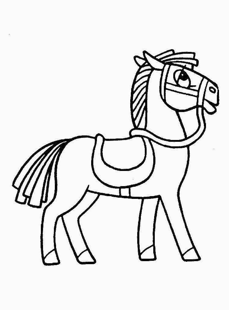 Раскраска лошадка - 4