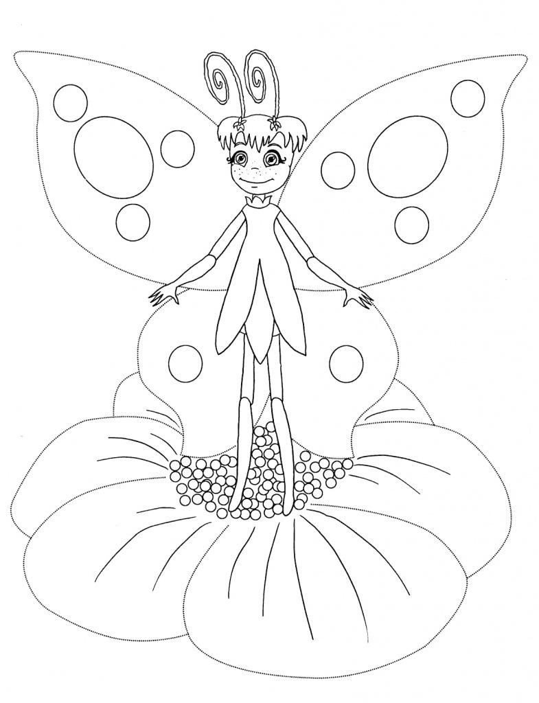 Раскраски бабочка из лунтика