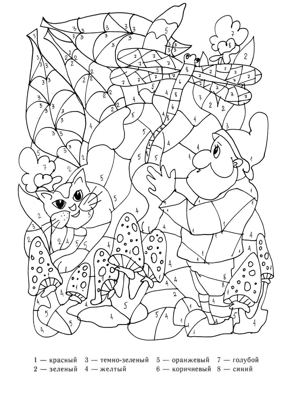 Раскраски по цифрам для девочек онлайн бесплатно