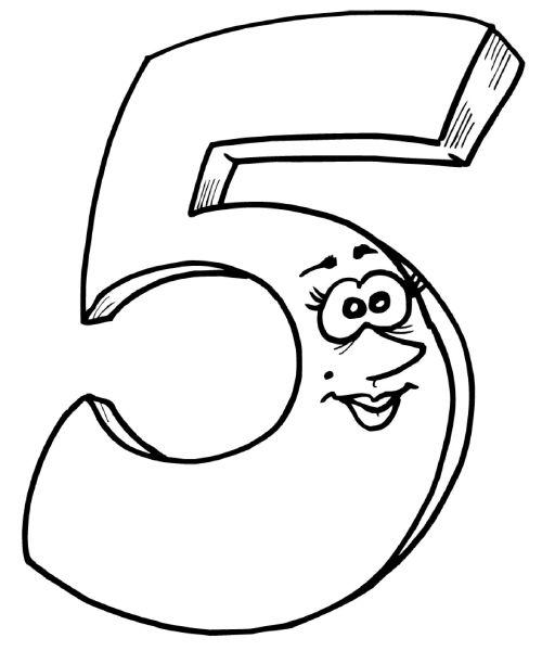 Цифра 5 раскраска - 5