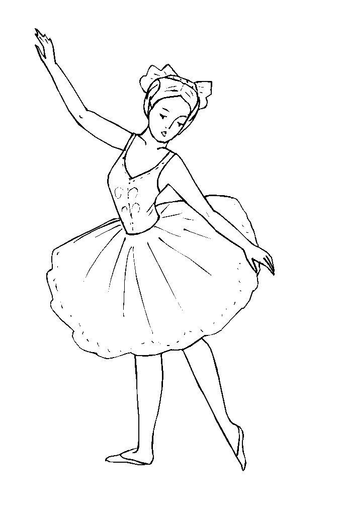 Раскраска танцы девочка - 3
