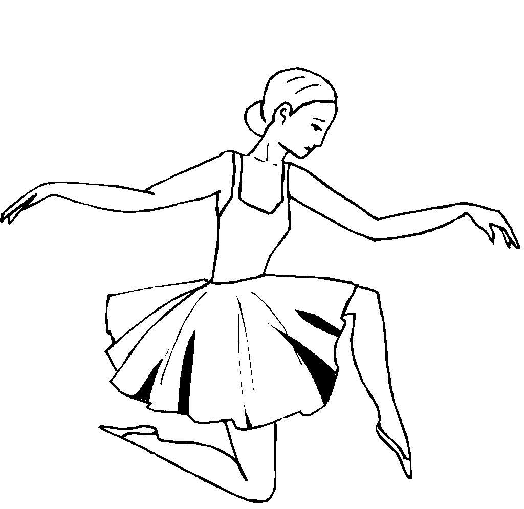 Раскраска девочка танцует - 10