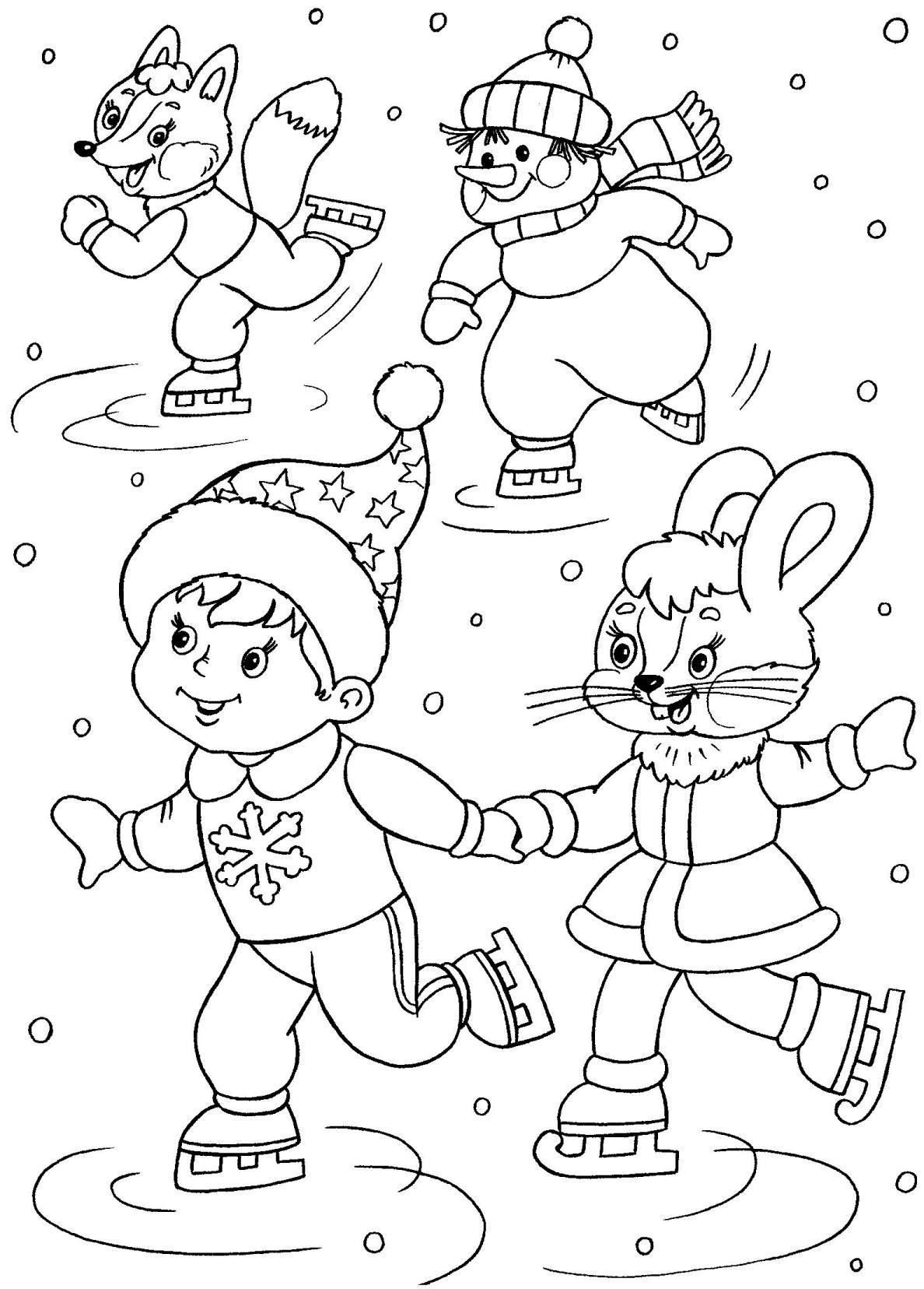 Новый год картинки для детей раскраски