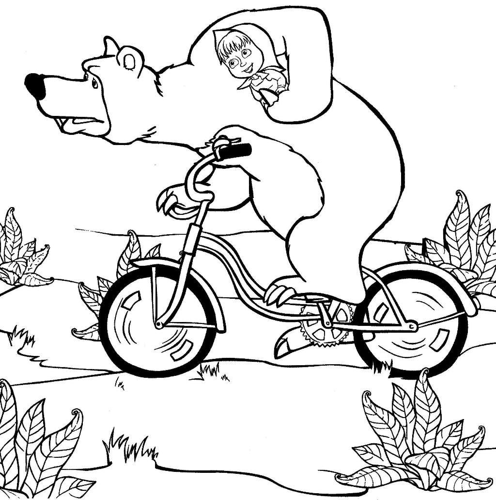 Раскраска Маша и Медведь | Toys House