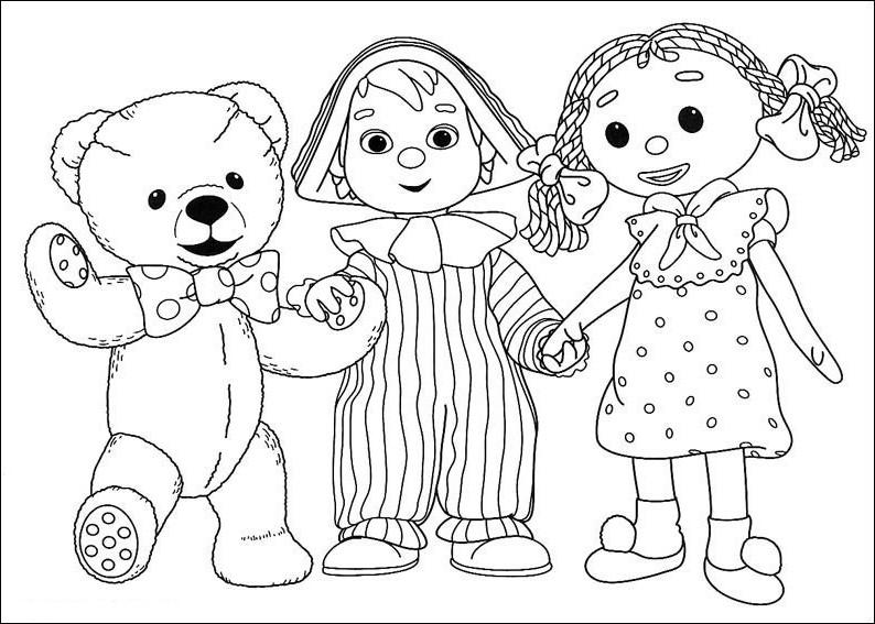 Раскраски кукла для детей - 9